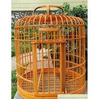 Бесплатная доставка Bamboo Birdcage STARLING HEASH CAGE CAGE Health Birds Cale 32 см для отправки полноценного SE JLLICG HOME003