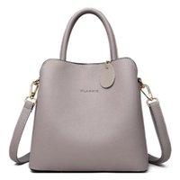 Evening Bags Moda Balde Feminina Bolsas De Couro Alta Qualidade Superior-lidar Com Sacos Viagem Sólida Casual Bolsa Ombro F1