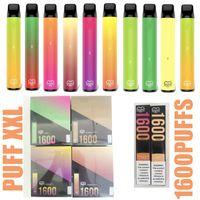 Puff XXL DESAPOSÁVEL Cigarros Vape Pen Preço 1600 Puffs 6.5ml 5% Capacidade Livre 950mAh Bateria 44 Cor Ezzy Super