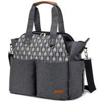 2021 Пользовательские сумки для подгузника для подгузников Путешествия Мамочная сумка смена Водонепроницаемая многофункциональная мультифункция Travel Black Mummy Tote Pote Bag Коляска