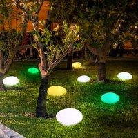 Güneş Lambaları Bahçe Işıkları, Glow Arnavut kaldırımı Taş Şekli Açık Işık Su Geçirmez Renk Değiştirme Peyzaj Işıkları Uzaktan, 1 Paket