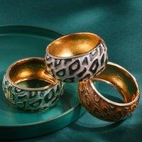 Новая мода All-Match Color Соответствующий барабан в форме барабана Браслет ретро капающий масляный браслет золотой камень открытия браслета подарок