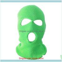 Beanies Headwears Athletic Outdoor As Sports & Outdoorsbeanies Full Face Er Ski Mask Hat 3 Holes Balaclava Windproof Knit Bonnet Winter Warm