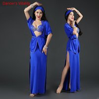 Nuove donne Costume da ballo professionale Belly Set di lusso Bellydance 5pcs Costumes Stage Performance Decorazione diamante Set