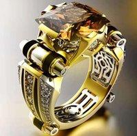Haojie New Electroplating Diamond Diamond Anello Aggressivo Moda creativo Colore Separazione I gioielli da uomo di fidanzamento