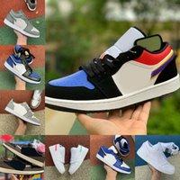 판매 2021 새로운 1 망 농구 신발 낮은 열대 조명 트래비스 UNC 파리 흑요해 Ember 글로우 브리드 발가락 레트로 1s 여성 스케이트 보드 신발 C35