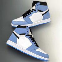 Alta OG 1 UNC nero Black Bianco Blu University Blue Jumpman Scarpe da basket Mens Stress Sneakers Sneakers Runner Sneakers