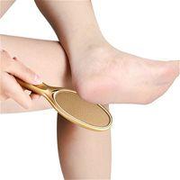 Mode beauté Salon Fichiers de pied Exfoliant Gommage Peeling Outils Pied Rasps Rose Gold Champagne Couleur Nano Verre