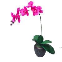 Fleur de soie Artificielle Orchidy Orchidy Orchidy Orchidy pour Mariage Festival de mariage Décoration Immortal Phalaenopsis Fleurs artificielles HWD5411