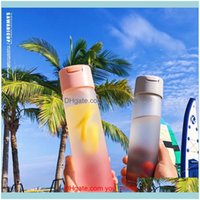 Bottles Kitchen, Dining Bar Home & Gardencreative Girl Cute Water Frosted Glass Drnk Bottle With Mirror Student Portable Leakproof Drinkware