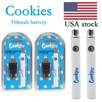 Cookies Akku USA Stock Stock 350mAh Variable Spannung Vorwärmbatterien mit USB-Ladegerät Kunststoffkasten Verpackung für elektronische Zigaretten-Starter-Kits