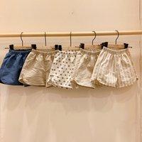 아이들의 옷 소년 소녀 격자 무늬 폴카 도트 줄무늬 반바지 어린이 코튼 캐주얼 PP 바지 2021 여름 한국어 버전 아기 의류 z2501