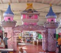 6 متر واسعة ملونة نفخ القلعة قوس نفق للطفل عيد الحزب الأحداث الديكور النفق ديكورات