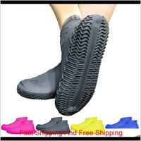 1 пара многоразовые латексные водонепроницаемый дождевой обуви охватывает скользкие резиновые дождевые сапоги мотоциклетки велосипед ov qylchu hairclippersshopshop