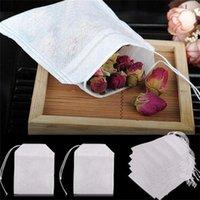 Saquinhos de chá vazio 100 pçs / lote saquinho de chá filtro de cordas não-tecidos teabag 6 x 8cm para café chá 11 v2