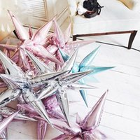 12pcs/lot Explosion star balloons Birthday party opening ceremony Wedding decoration Water drop cone DIY inflatable ballon Party