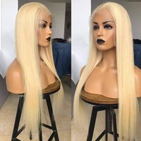 613 Full Blonde Lace Front Human Remy Hair Wigs Hand Tied 12~28 Inches Straight Wig 150% Density Lace-frontal Perruques De Cheveux Humains RQY4341