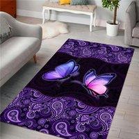 Carpets Butterfly Rug 3D All Over Printed Carpet Mat For Living Room Doormat Flannel Print Bedroom Non-slip Floor 02