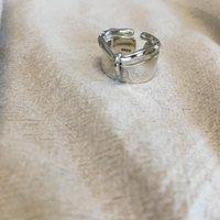 Cluster Rings Japan Real 925 Sterling Silver Retro Old Original Wholesale Lots Bulk Geometric Elegant Adjustable Ring Exaggeration