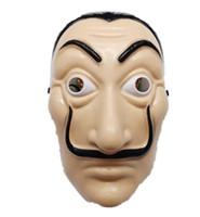 SALVADOR DALI Filme Traje Dinheiro Heist A Casa de Paper La Casa de Papel Cosplay Festa de Festa de Halloween Face Máscara