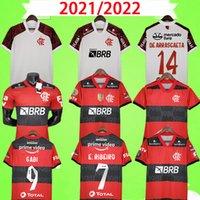 Flamengo Soccer Jerseys 2021 2022 Homme Femmes Chemises Diego E.Ribeiro Gabriel B. Gabi Jersey Pedro Football Pedro Accueil Camisa Mengo 21 22 joueur + Version fans