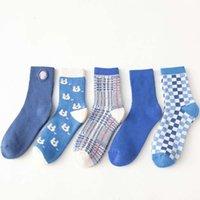 Sonbahar ve kış yeni ürünler 2020 kalın kadın sıcak terry orta tüp mavi bin kuş kontrol havlu alt çorap