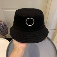 Secchio cappello da donna perle perle lettere secchio cappelli moda estate cappelli cappelli per le donne Attività all'aperto