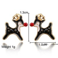 Santa Claus Christmas Earrings Snowman Deer Bell Christmas Tree Ear Jewelry Accessories Lovely Xmas Gifts for Women Girls FWD10276