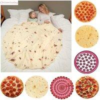 Soft Warm Flannel Tortilla Blanket Round Shape throw blankets Coral Fleece Tortilla Nap Wrap travel Egg Blankets