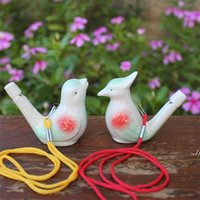 Novelty Items Creative Water Bird Whistle Clay Ceramic Glazed Song Chirps Bathtime Kids Toys Gift Christmas Party Favor DWA6048