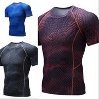 Mode Freizeit Drache kleiden Strumpfhosen Neoprenanzüge SCHRYSUITS Männer Sport Slim Kurzärmliges T-Shirt enge Kleidung 298 x2