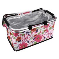 Storage Baskets 1pc Picnic Insulation Basket Grocery Folding Large Capacity Lunch Bag