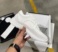 2021 Designer Sneaker homens mulheres reflexivas sapatos casuais Genuíno sapatilhas de couro festa de veludo Calfskin misturado fibra de alta qualidade sapato com caixa tamanho 35-46