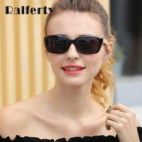 선글라스 ralferty 선글라스 빈티지 대나무 여성 고양이 눈 태양 안경 UV400 여성의 목조 선글라스 그늘 Gafas Oculos K1532