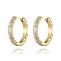Hoop & Huggie Hip Hop Ear Ring Design Earrings For Women Men Brilliant CZ Dangle Inlaid Accessories Top-quality Jewelry