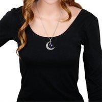Beste Verkauf von Halbmond 12 Konstellationen Zeitmond Halskette 9T8P