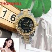 Men Women Lovers Watch 40mm Stainless Steel Designer Watchs Shinning Diamonds Full Iced Out Watches Japan Quartz Movement Sport Wristwatch Bracelet