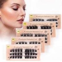 Natural Curl Cluster False Eyelashes Long Segmented Makeup DIY Lash Extension Wisps Faux Mink Eyelash
