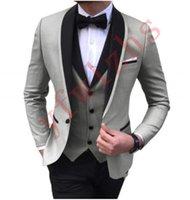Handsome Groomsmen One Button Groom Tuxedos Shawl Lapel Men Suits Wedding Prom Dinner Man Blazer (Jacket+Pants+Tie+Vest) w606