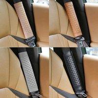 2pcs Autocar Gaet Car Safety Seat Belt Covers Pu Leather Shoulder Protection Pad Padding Automobile Accessories