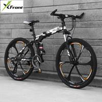 자전거 탄소 강철 프레임 산악 자전거 27 속도 24/26 인치 휠 접이식 자전거 소프트 꼬리 야외 스포츠 다운 힐 MTB Bicicleta1