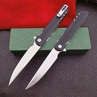 Promotion 3810 Flipper Folding Knife 8Cr13Mov Satin Blade Nylon Plus Glass Fiber Handle EDC Pocket Knives With Retail Box Package