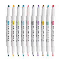 5 adet / takım Çift başlı Vurgulayıcı Kawaii Yüksek Kalite Renkli Marker Kalemler Okul Ofis Yazma Tedarik Japon St Jlltpz