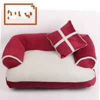 Nouveaux-Saisons Canapé-lit pour chiens pour animaux de compagnie avec oreiller Détachable Laver molleton doux chat chat chaud chihuahua petit lit de chien 675 k2