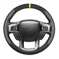 Steering Wheel Covers Black Leather Suede Soft Car Cover For F-150 F-250 F-350 F-450 F-550 2021-2021 F-600 F-650 F-750