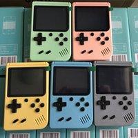هدية المعكرون المحمولة ريترو المحمولة لعبة وحدة التحكم المشغل 3.0 بوصة شاشة ملونة TFT 800/500/400 في 1 جيب