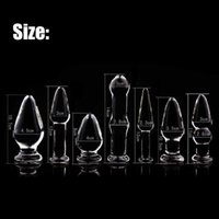 7 Size Glass Anal Dildo Butt Plug Anal Beads Erotic Sex Toy for Women Adult Products for Couples Crystal Glass Anus Massage Toys X0728