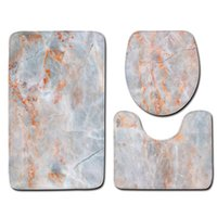 Toilet Seat Covers Bathroom Cover 3Pcs Set Marble Pattern Rugs Anti-slip Mat Water Absorption Doormats Home Decoration Floor Carpet