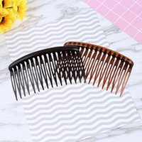 Hair Brushes 2pcs 16 Tooth Simple Comb Headdress For Woman Girl Bride Decoration Use