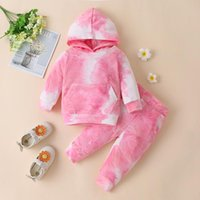 Clothing Sets Luxury Designer Baby Girl Clothes Korean Tie Dye Long Sleeve Hooded Hoodies + Pants Infant Outfits Kids Bebes Jogging Suits